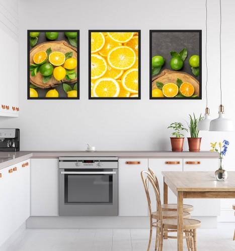 Zestaw trzech plakatów plakaty na ścianę do kuchni KP169 - 1