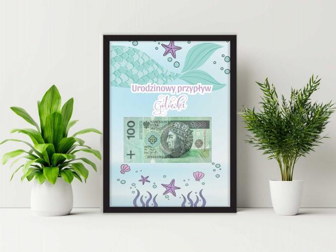 Plakat w ramie na pieniądze, syrena PP011 - 1