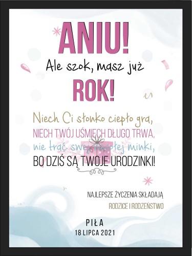 Plakat w ramie na urodzinowy dla dziecka 20504 - 1