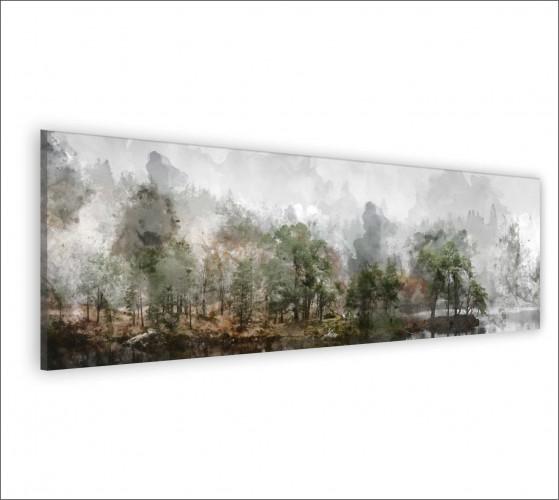 Obraz na ścianę do sypialni salonu akwarela, pejzaż, las 20139 - 1