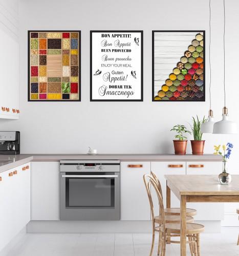 Zestaw trzech plakatów plakaty na ścianę do kuchni KP176 - 1