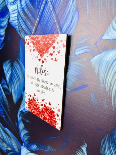 Tabliczka drewniana tabliczka z sentencją ozdobna prezent na Walentynki 60044 - 1