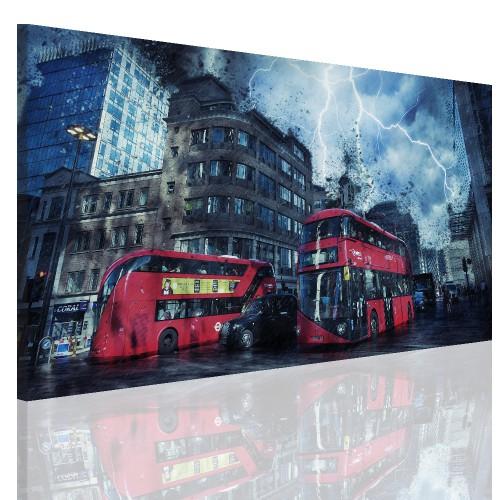 Obraz na ramie płótno canvas- miasto, Londyn, autobus 15064 - 1