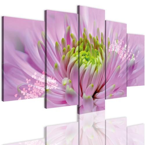 Obrazy 5 częściowe- Kwiaty 12314 - 1