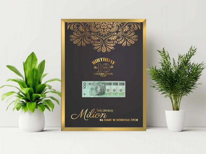 Plakat w ramie na pieniądze mandala PP005 - 1