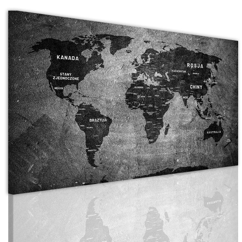 Obrazy na ściane z mapa świata 41144 - 1