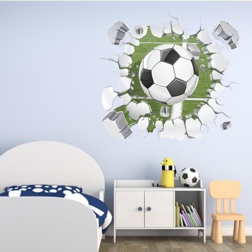 Naklejka na ścianę, dziura 3D piłka 2371 - 1