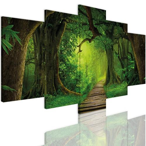 Obrazy 5 częściowe- Tajemniczy las 12396 - 1