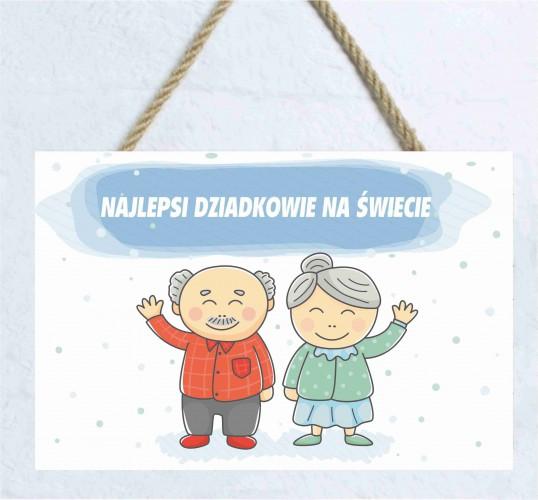 Zawieszka dekoracyjna tabliczka drewniana na Dzień Babci i Dziadka 60033 - 1