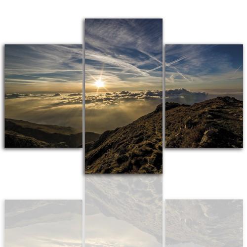 Tryptyk do salonu - Obraz, góry, niebo 12248 - 1
