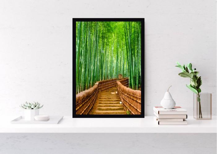 Plakat Schody wśród bambusów 61103 - 1