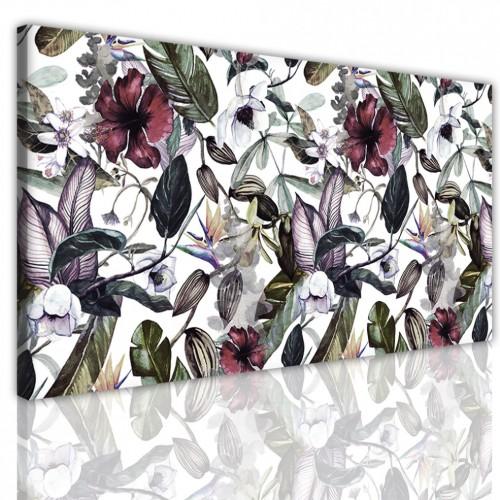 Obraz jednoczęściowy na ścianę  15173 kwiaty liście - 1