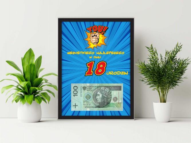 Plakat w ramie na pieniądze, 18tka PP013 - 1