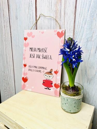 Tabliczka drewniana ozdobna prezent na Walentynki  60040 - 1