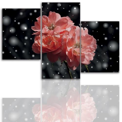 Tryptyk do salonu - Kwiaty, roślina, pąk kwiatu 12105 - 1