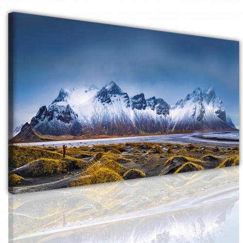 Obraz jednoczęściowy na ścianę  15172 panorama ośnieżony szczyt - 1
