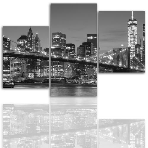 Tryptyk do salonu - Miasto, Nowy Jork 12024 - 1