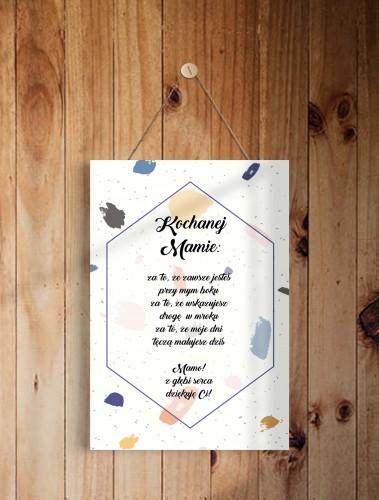 Tabliczka drewniana z sentencją, ozdobna zawieszka prezent na Dzień Mamy 43010 - 1