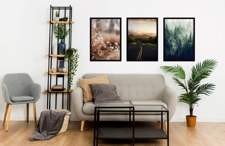 Komplet plakatów trzy plakaty plakat styl skandynawski KP009 - 1
