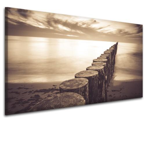 Obraz na ścianę do sypialni salonu falochrony morze  41448 - 1