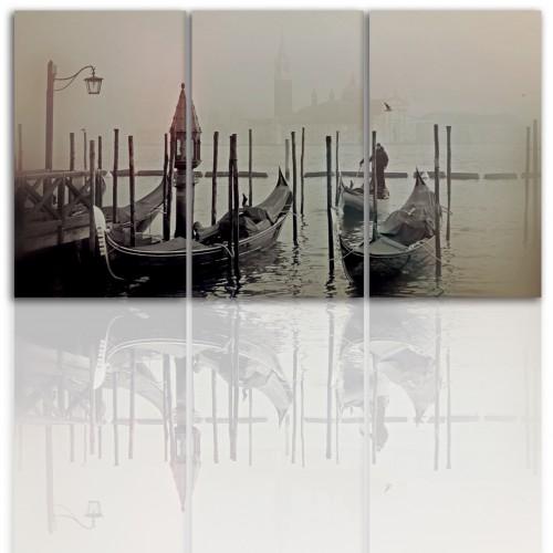 Tryptyk do salonu - Obraz, pejzaż, miasto, Wenecja 12195 - 1