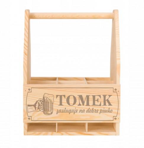 Skrzynka drewniana na piwo dla Niego, personalizowana - 1