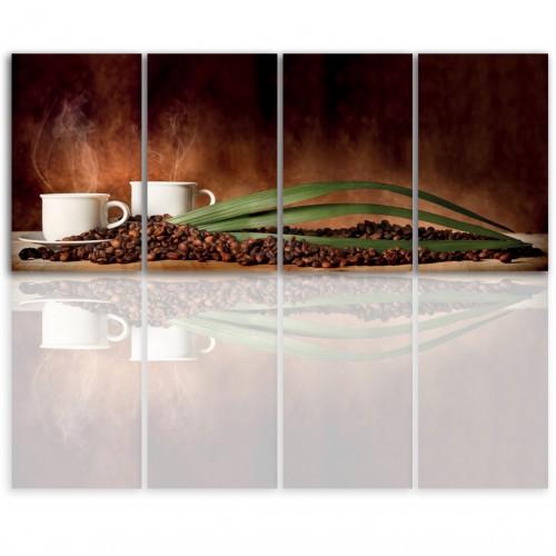 Tryptyk do salonu - Obraz, kawa, ziarna kawy 12196 - 1