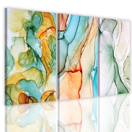 Tryptyki do salonu sypialni 41123 obraz na  ścianę abstrakcja - 1