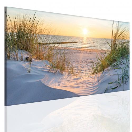 Obraz na ramie płótno canvas- pejzaż, morze, plaża, wydmy 15082 - 1
