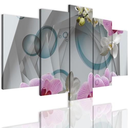 Obrazy 5 częściowe- Storczyk, orchidea, abstrakcja 12298 - 1
