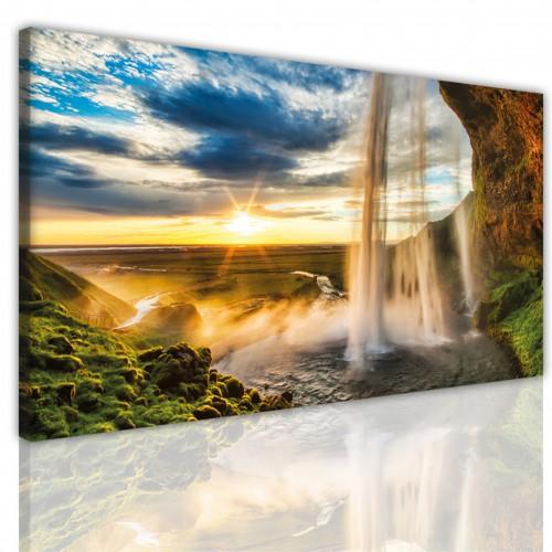 Obraz na ścianę jednoczęściowy15179 wodospad  wschód słońca - 1