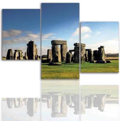 Tryptyk do salonu - Pejzaż, Stonehenge 12090 - 1