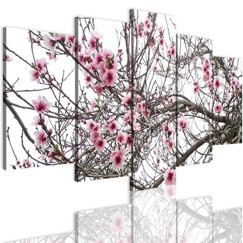 Obrazy 5 częściowe- Kwiaty 12313 - 1