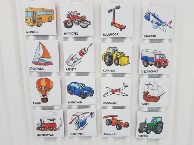 Magnes magnesy na lodówkę auta 16 szt - 1