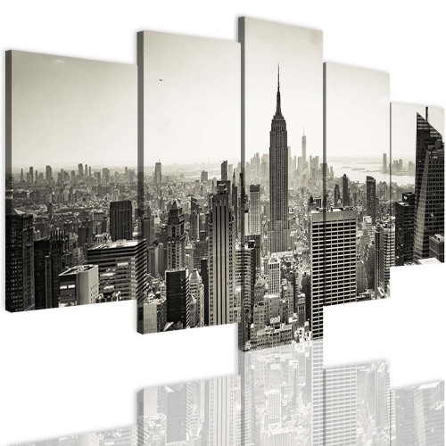 Obrazy 5 częściowe 15115  Miasto, Nowy Jork - 1