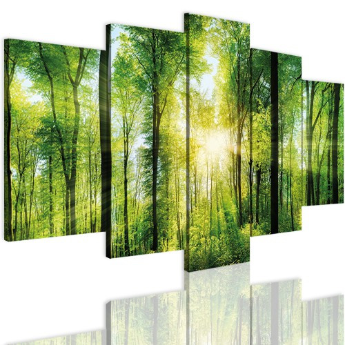 Obrazy 5 częściowe-  Drzewa, las 12336 - 1