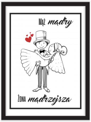 Plakat w ramie ślub miłość AGX2 - 1
