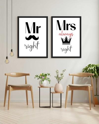 Zestaw plakatów mąż żona 20328 - 1