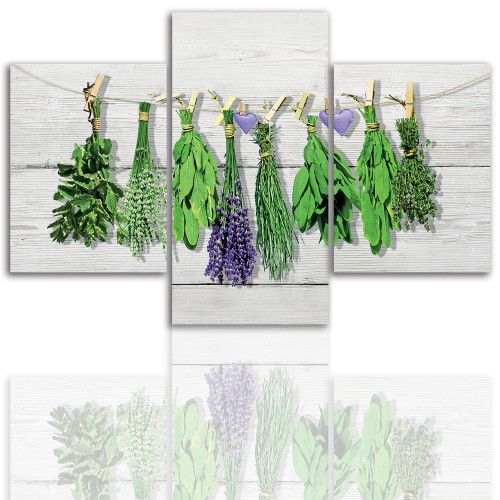 Tryptyk do salonu -  Obraz, zioła, kuchenne 12204 - 1