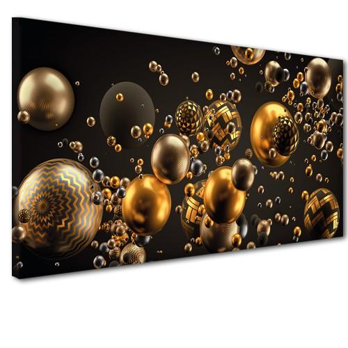 Obraz na ścianę do sypialni salonu złote kule 41249 - 1