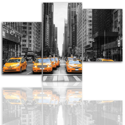Tryptyk do salonu - Miasto, Nowy Jork 12011 - 1