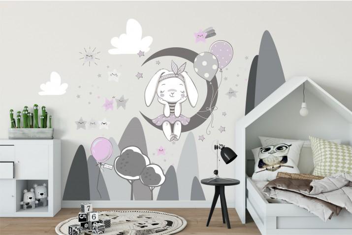 Naklejki dla dzieci - bajka, księżyc, góry, gwiazdki 9823 - 1
