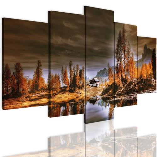 Obrazy 5 częściowe- Drzewa, krajobraz 12317 - 1