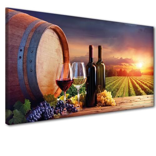 Obraz na ścianę do sypialni salonu wino o zachodzie słońca  41233 - 1
