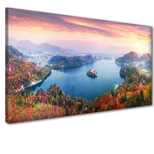 Obraz na ścianę do sypialni salonu zachód słońca jesienią  41236 - 1