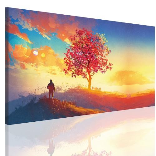 Obraz na ramie płótno canvas- obraz do sypialni drzewo, niebo 5143 - 1