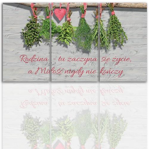 Tryptyk do salonu -  Obraz, zioła, kuchnia 12206 - 1