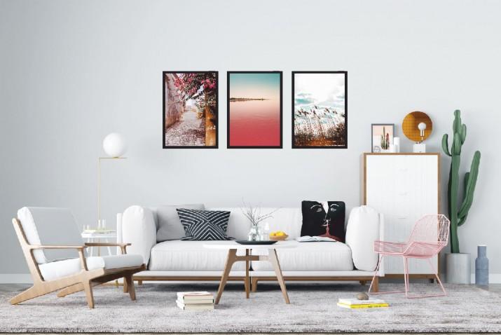 Zestaw trzech plakatów styl skandynawski  KP026 - 1