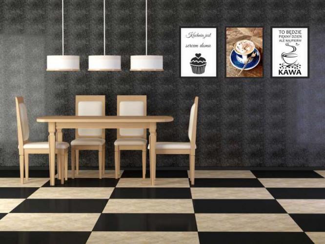 Zestaw plakatów trzy plakaty na ścianę do kuchni w ramie  KUCH 1 - 1