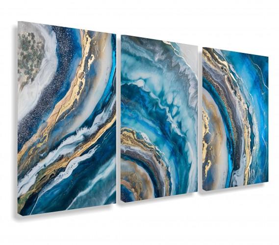 Obraz na ścianę do salonu sypialni marmur złoto 65000 - 1